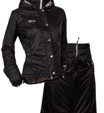 8bf88988 Uhip vind og vandtæt jakke & nederdel til ridning, sort eller blå